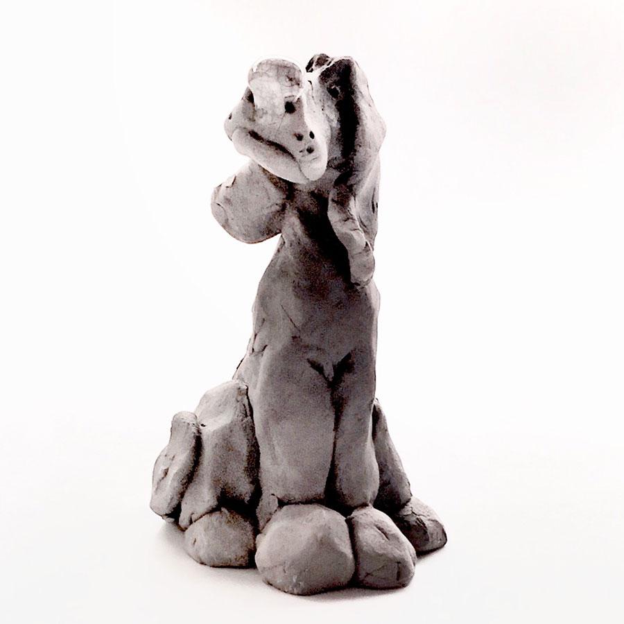anna heij, 20150520, hund keramik